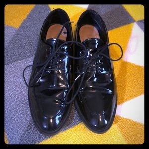 Zara black Oxford shoes size 38